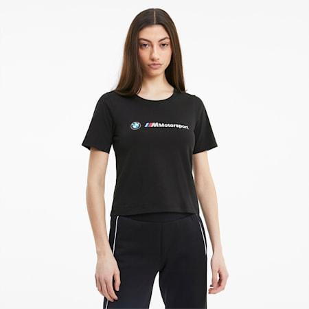 T-shirt da donna BMW M Motorsport Logo, Puma Black, small