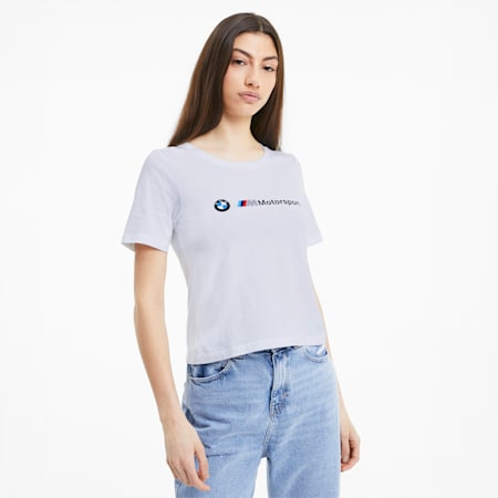 T-shirt da donna BMW M Motorsport Logo, Puma White, small