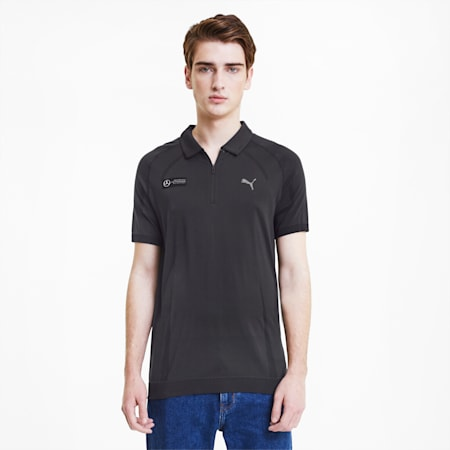 Mercedes RCT evoKNIT Men's Polo Shirt, Puma Black, small-IND