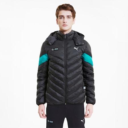 Mercedes EcoLite Men's Drop Shoulder Jacket, Puma Black, small-IND