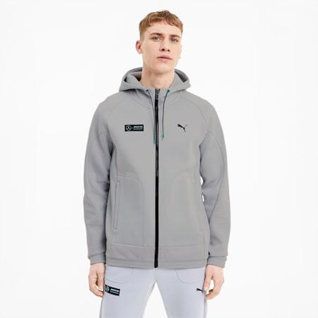 Mercedes Men's Sweat Jacket, Mercedes Team Silver, small
