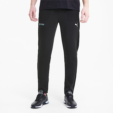 Mercedes Knitted Men's  Slim Sweat Pants, Puma Black, small-IND