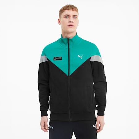 Mercedes-AMG Petronas MCS Men's Sweat Jacket, Puma Black, small