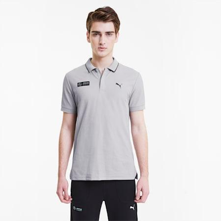 Mercedes Men's Polo Shirt, Mercedes Team Silver, small-SEA