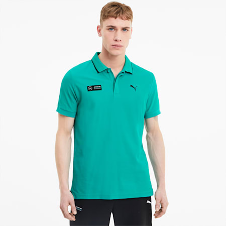 Mercedes Herren Polo, Spectra Green, small