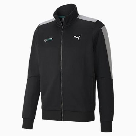 Mercedes T7 Men's Track Jacket, Puma Black, small-SEA