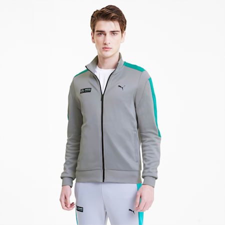 Mercedes-AMG Petronas Men's T7 Track Jacket, Mercedes Team Silver, small
