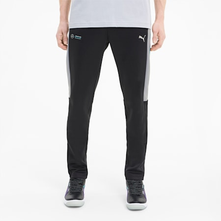 Mercedes T7 Ergonomic Fit Men's Track Pants, Puma Black, small-IND