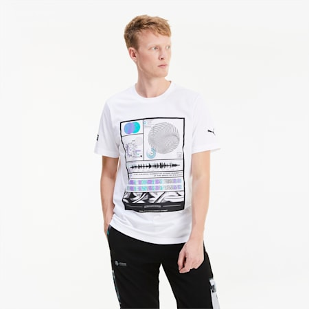 Mercedes-AMG Petronas Men's Graphic Tee, Puma White, small