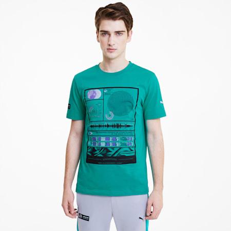 Camiseta estampada Mercedes AMG Petronas para hombre, Spectra Green, pequeño