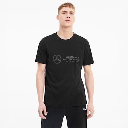 Mercedes Logo Regular Fit Men's T-Shirt, Puma Black, small-IND