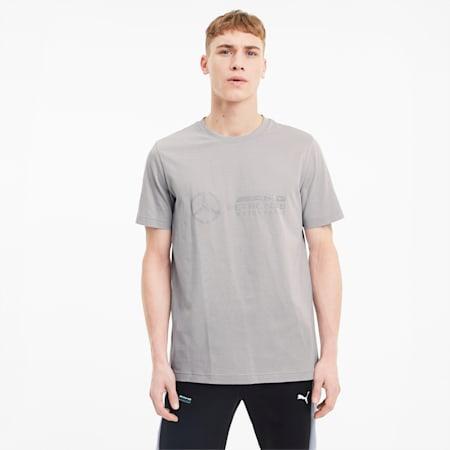MAPM Logo Men's T-Shirt, Mercedes Team Silver, small-IND