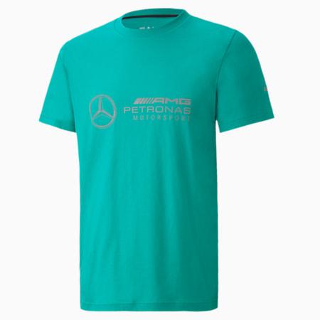 Mercedes Logo Regular Fit Men's T-Shirt, Spectra Green, small-IND