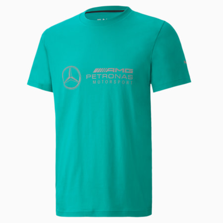 Mercedes Logo Men's Tee, Spectra Green, small-SEA