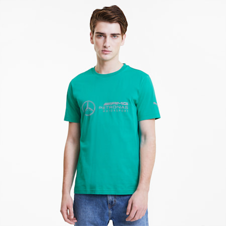 Mercedes Logo Men's Tee, Spectra Green, small-SEA