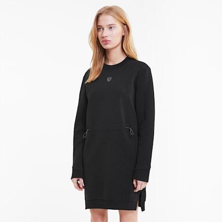 Vestido estilo sudadera para mujer Scuderia Ferrari, Puma Black, small