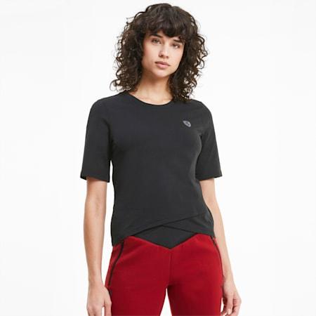 T-Shirt Scuderia Ferrari Shield pour femme, Puma Black, small