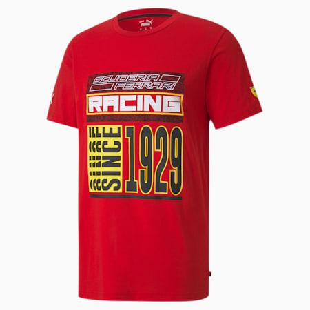 Scuderia Ferrari Race Q4 Men's T-Shirt, Rosso Corsa, small-IND