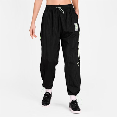 Evide Woven Women's Track Pants, Puma Black, small-IND