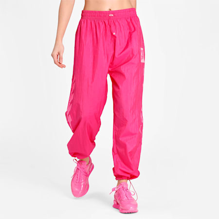 Evide Woven Women's Track Pants, Fuchsia Purple, small-IND