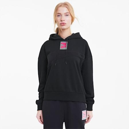 Evide Women's Hoodie, Puma Black, small