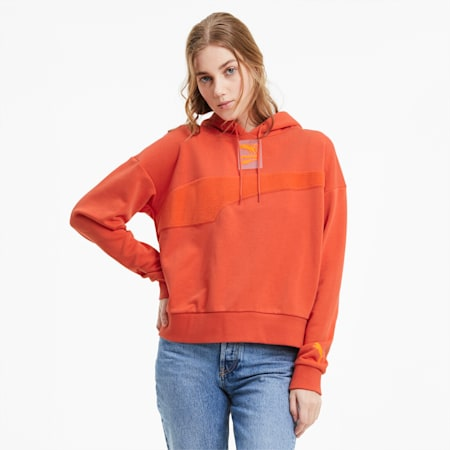 Evide Women's Hoodie, Paprika, small