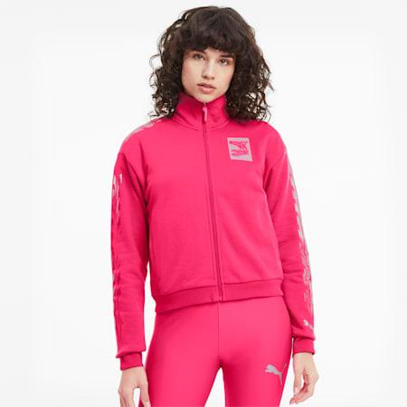 Evide Damen Trainingsjacke, Glowing Pink, small