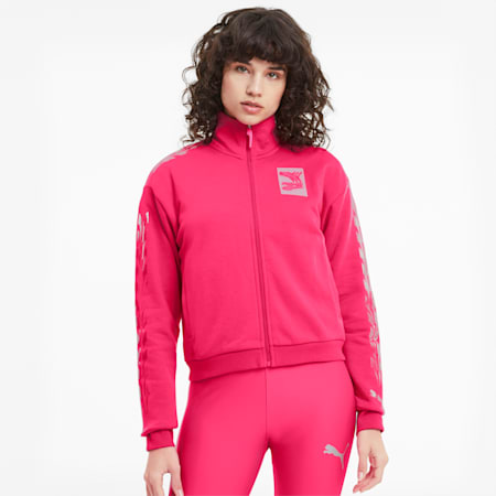 Evide Women's Track Jacket, Glowing Pink, small