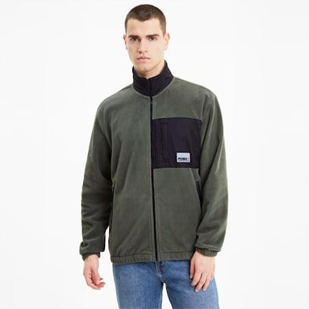 Avenir Hybrid Men's Track Jacket, Thyme, small