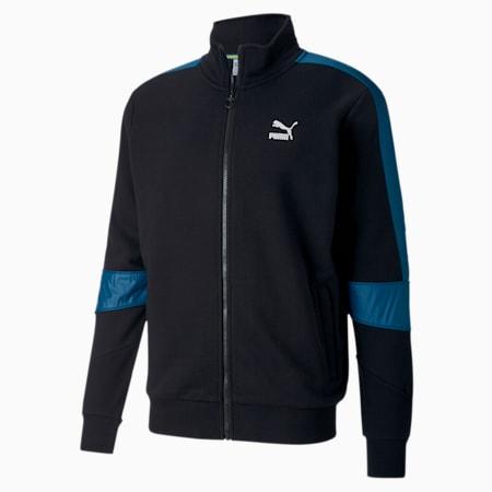 TFS Men's Track Jacket, Puma Black-Digi-blue, small-IND