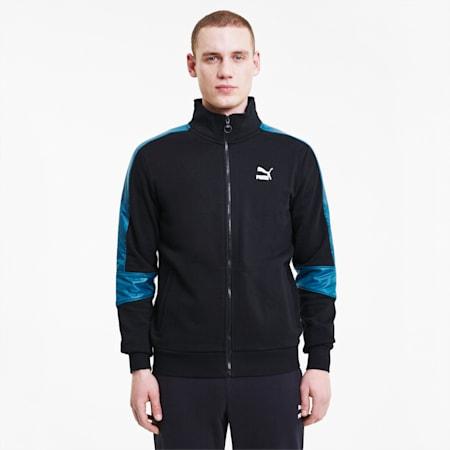 Męska kurtka dresowa TFS, Puma Black-Digi-blue, small