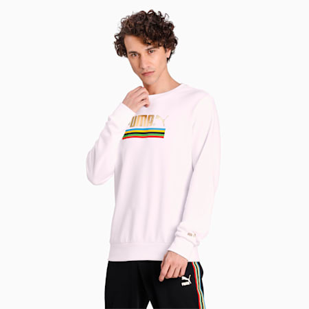 The Unity Collection TFS Crew Neck Men's Sweater, Puma White, small-IND