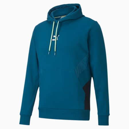 Tailored for Sport Men's Hoodie, Digi-blue, small-IND