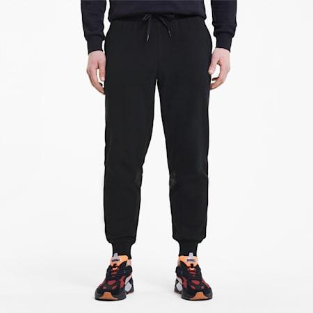 TFS Men's Track Pants, Puma Black, small-IND