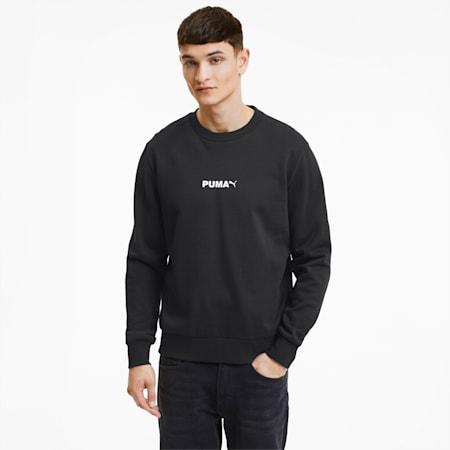 Avenir Graphic Crew Neck Men's Sweater, Puma Black, small-IND