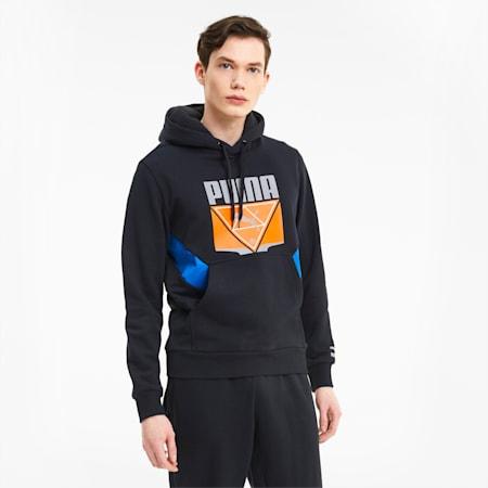 Tailored for Sport Winterized Men's Hoodie, Puma Black-Lapis Blue, small