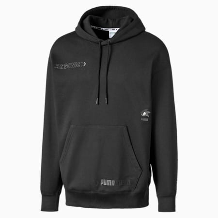 PUMA x SONIC Men's Hoodie, Puma Black, small-SEA