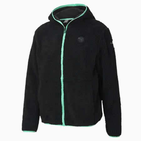 Porsche Legacy Men's Hooded Fleece Jacket, Puma Black, small