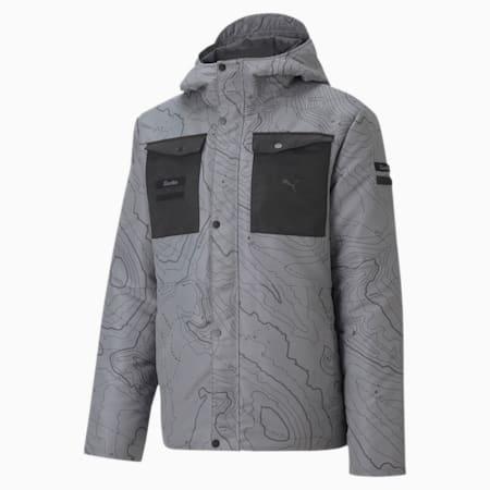 Porsche Legacy Men's Padded Jacket, Ultra Gray, small