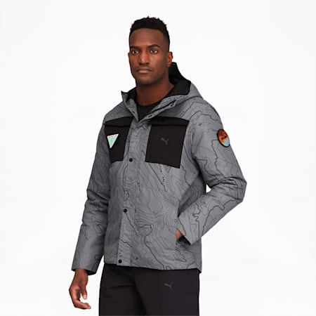 Porsche Legacy Men's Padded Jacket, Ultra Gray, small