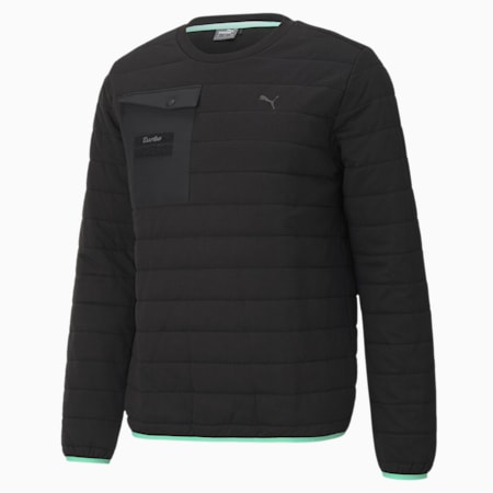 Porsche Legacy Insulated Crew Neck Men's Sweater, Puma Black, small