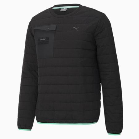 Porsche Legacy Insulated Crew Neck Men's Sweater, Puma Black, small