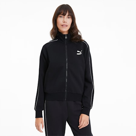 Women's Track Jacket, Cotton Black, small-SEA