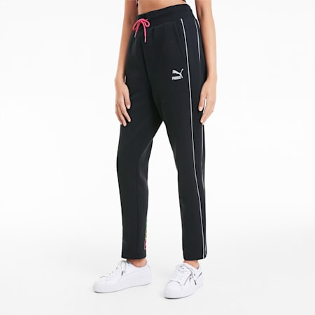 Knitted Women's Track Pants, Cotton Black, small