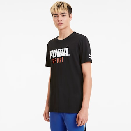 Graphic Men's Tee, Cotton Black, small