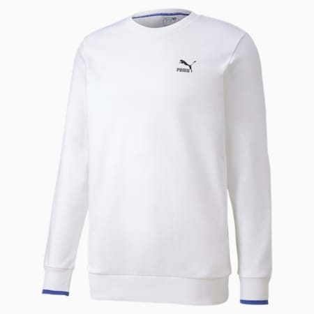 Long Sleeve Men's Sweater, Puma White, small