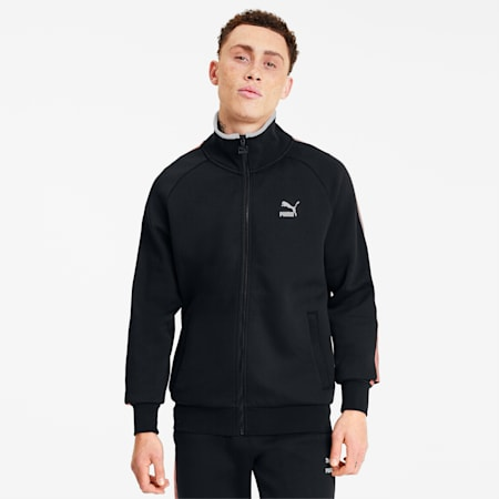 Men's Track Jacket, Cotton Black, small