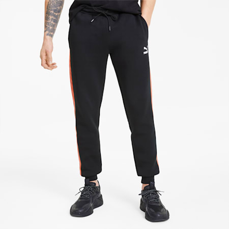 Men's Track Pants, Cotton Black, small
