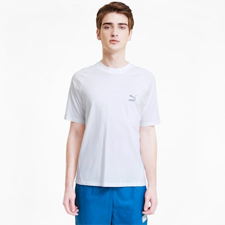 Classics Tech T-shirt voor heren, Puma White, small