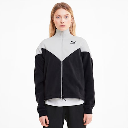 Track Jacket MCS in pile da donna, Puma Black, small